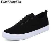 f5679eef85643 Offre spéciale hommes d'été chaussures décontractées mode noir/blanc toile  hommes chaussures respirant