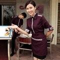 Официант рукавами униформа Форменной одежде, Ресторан рубашка кофе магазин одежды
