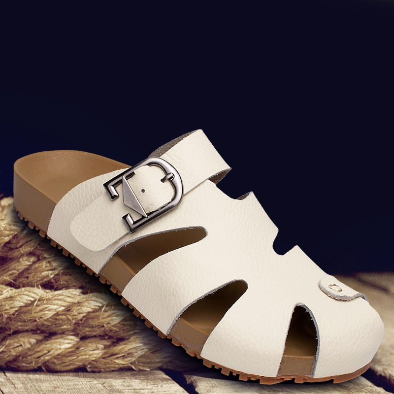 Womens Summer Casual Leather Sandals Shoes New 2017 Closed Toe Beach For Hombre Fashion Fisherman Slippers In Women S From