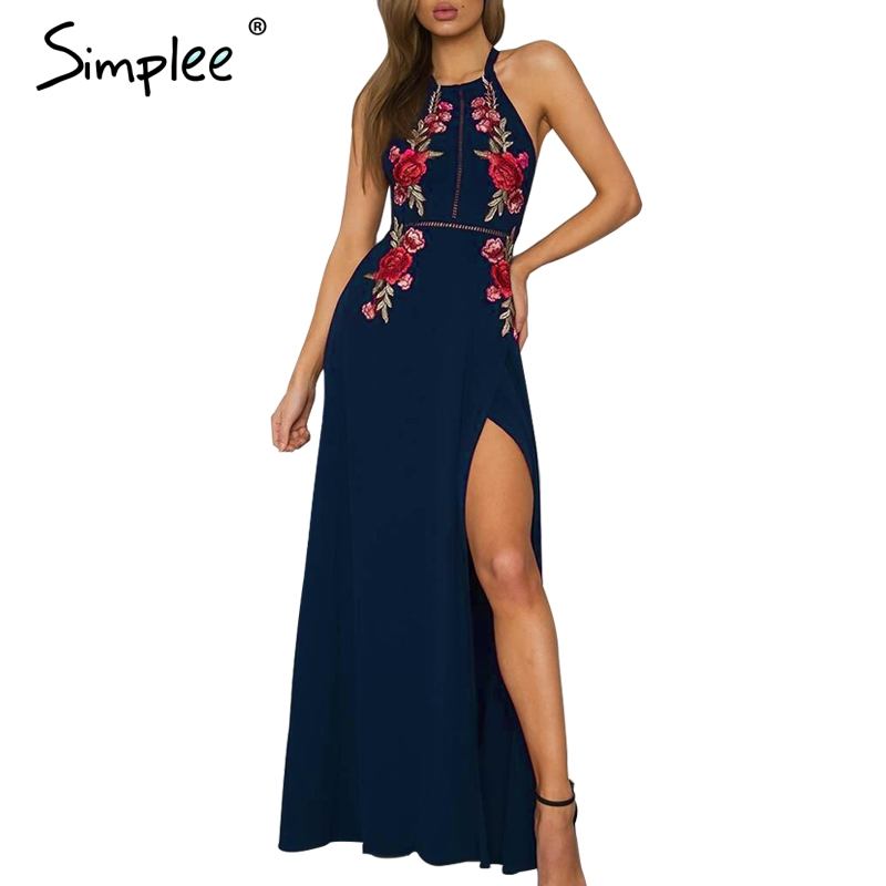 Christmas Party Dress Up Games: Aliexpress.com : Buy Simplee Embroidery Chiffon Halter