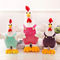25 cm Soft Suspender Trousers Cock Plush Toys Cute Stuffed  Animal Doll Kids Toys Birthday Gifts Fast Shipping
