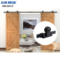 KIN MADE Top mounted Double Sliding Barn Door modern wooden sliding barn door hardware