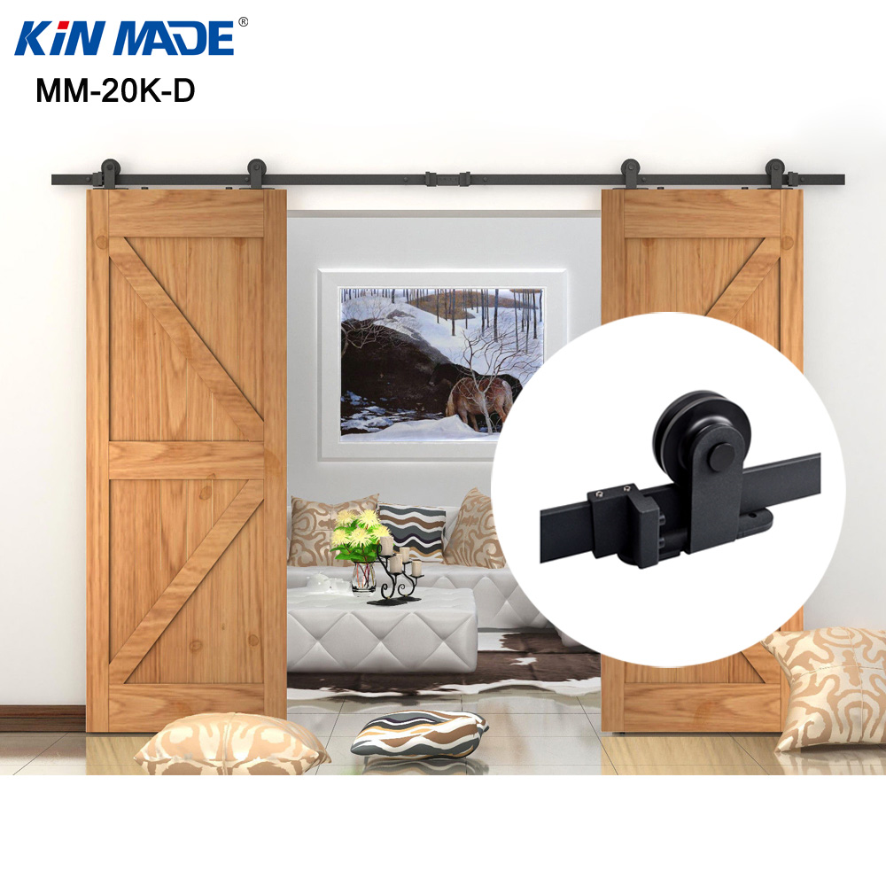 KIN MADE Top mounted Double Sliding Barn Door modern wooden sliding barn door hardware [mumsbest] 3pcs reusable cloth diaper cover washable waterproof baby nappy pul suit 3 15kgs adjustable boy diaper covers