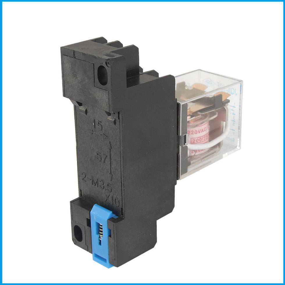 Jqx 13f 220v Ac Coil Dpdt Power Relay 8 Pin Ptf08a Socket