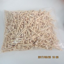 1000 Stks/partij Hoge Kwaliteit Bulk 70 Mm 2 3/4 Inch Natuur Hout Kleur Houten Golf Tee
