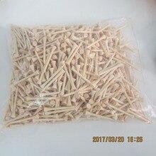 1000 pz/lotto di massa di alta qualità 70mm 2 3/4 pollici colore naturale del legno tee da golf di legno