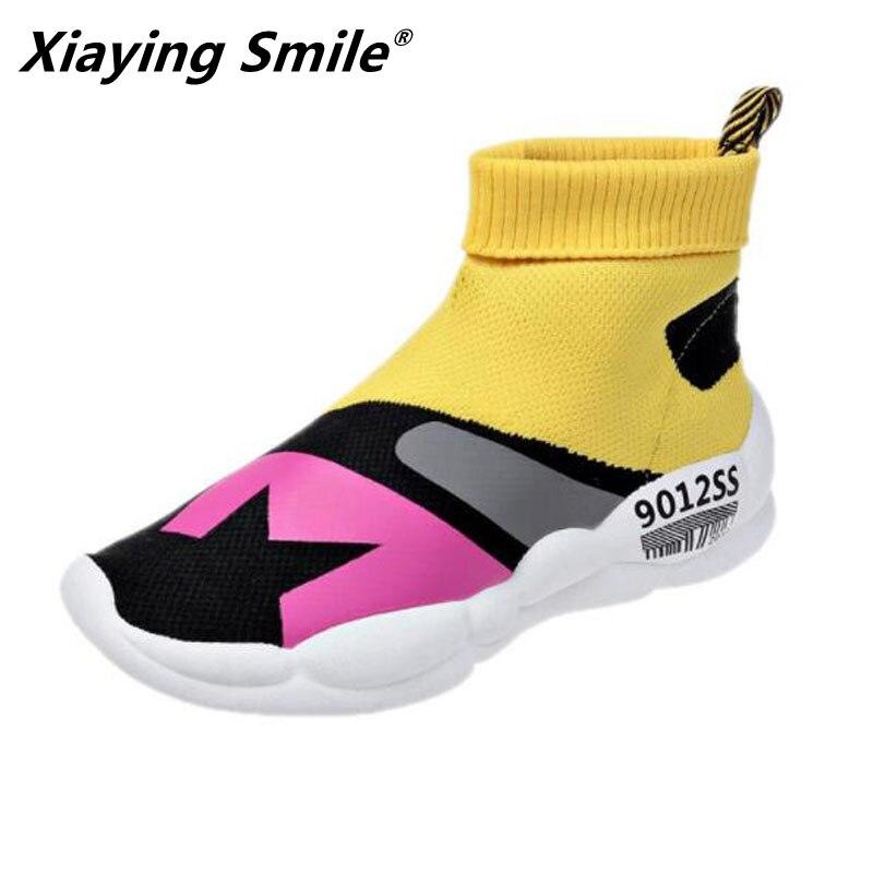 Xiaying Smile Walking Shoes Women Outdoor Skidproof Canvas Shoe Women 2019 Breathable Sport Zapatillas Deporte Mujer Sneakers