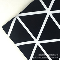 Black Geometric Print Canvas Cloth Shuangjing Double Weft Canvas Cotton Fabric Sofa Activity Set Table Cloth