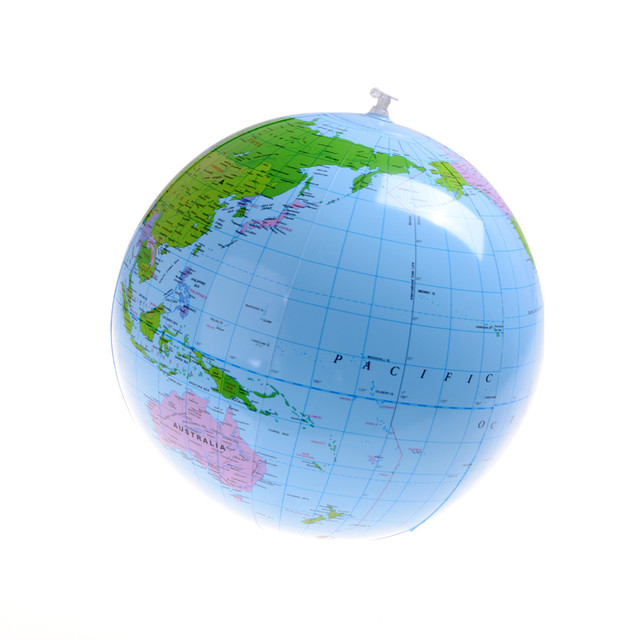 Inflatable Globe World Map. Early Educational Inflatable Earth World Geography Globe Map Balloon Toy  Beach Ball 40CM