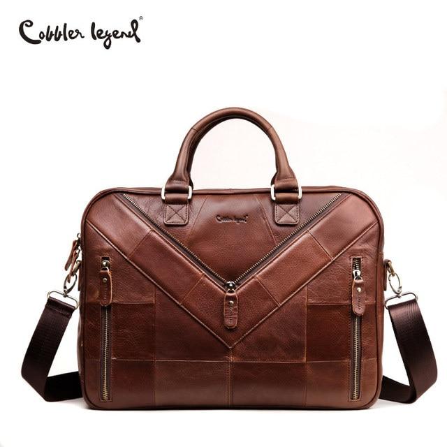 8991cc02e947 Сапожник Легенда коровьей мужской Бизнес Портфели ноутбука Пояса из  натуральной кожи Винтаж Для мужчин женская сумка