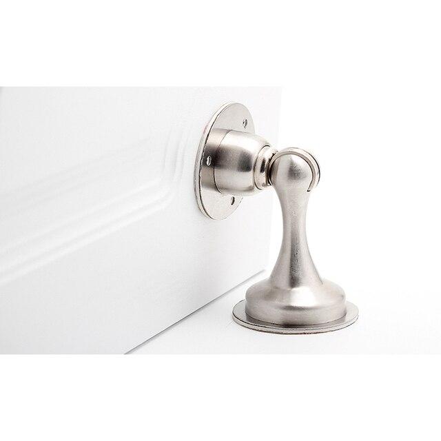 KAK porte magnétique autocollant caché | Butoir en acier inoxydable, supports de porte cachés, attraper au sol, matériel de porte sans clous