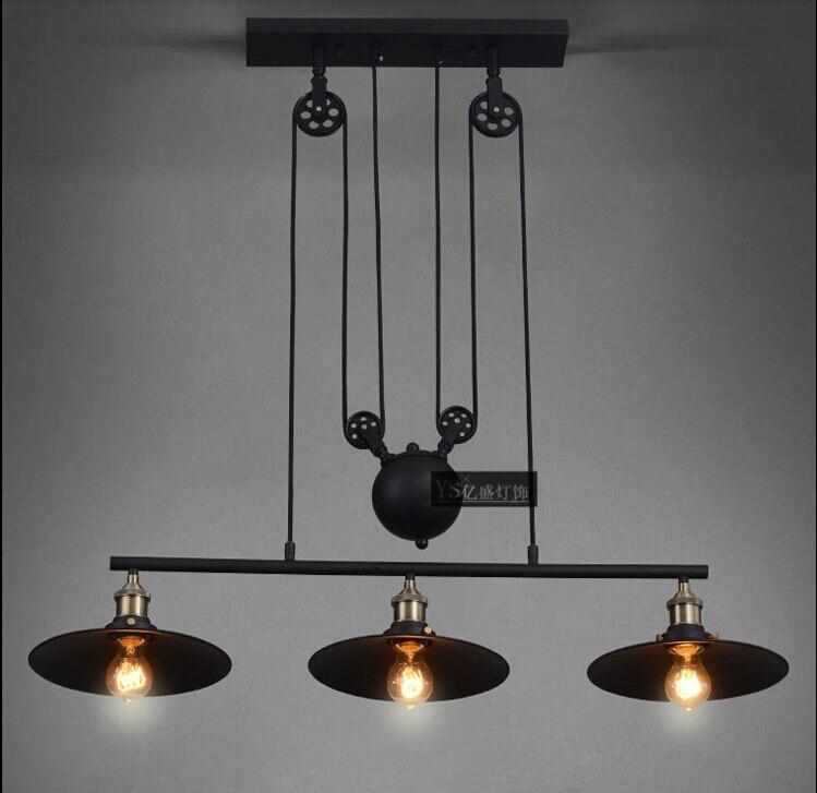 e848894a7e0 Nordic Retro Pendant Lights American Vintage Industrial Lampshade Living  Room Decoration Lighting 110-240V Creative