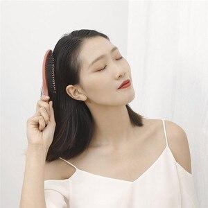 Image 4 - Youpin Xinzhi peine de masaje elástico relajante, cepillo de pelo portátil, cepillo de masaje, cepillos mágicos antiestáticos, peinetas para la cabeza