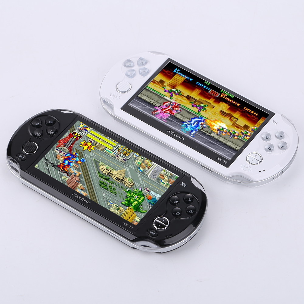 Handheld Game Console 5 inch screen TV Built-in 3000 Classic Games retro video game support for GBA Sega NES games