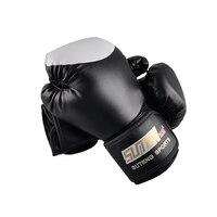 Brand PU Boxing Gloves Kickboxing MMA Training Equipment Fighting Sandbag Gloves SUTENG Sanda Glove White Top