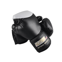 Brand PU Boxing Gloves Kickboxing MMA Training Equipment Fighting Sandbag Gloves SUTENG Sanda Glove White Top