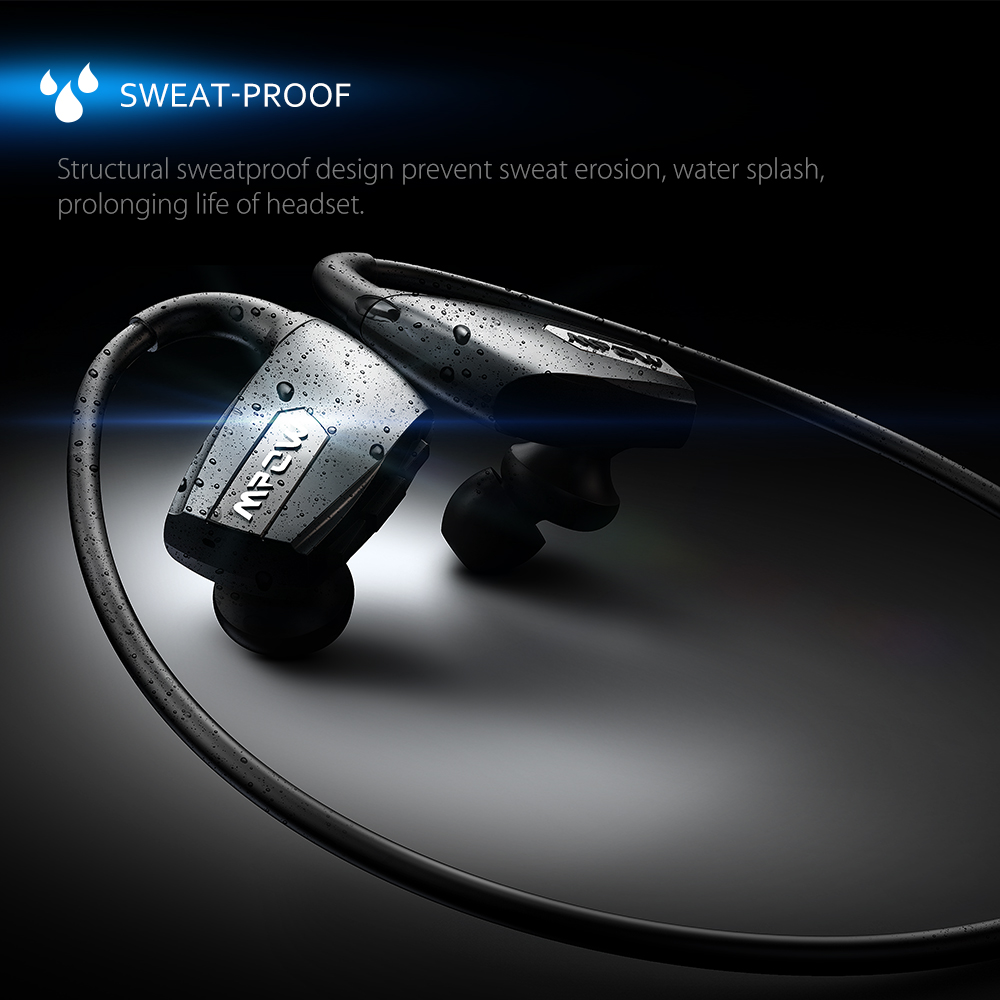 ФОТО Mpow MBH30 Antelope Wireless Bluetooth 4.1 Sports Headphone with Hands-free Calling Long Working-Time CVC6.0 Noise Reduction