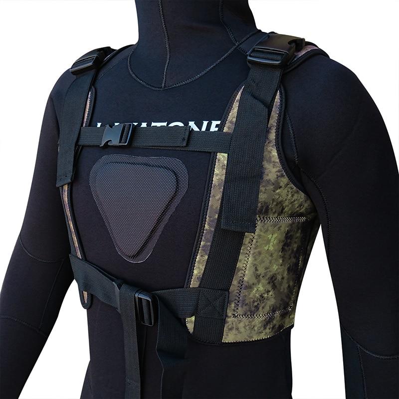 spearfishing underwatr fishing wetsuit weight vest drop vest load vest knife 06
