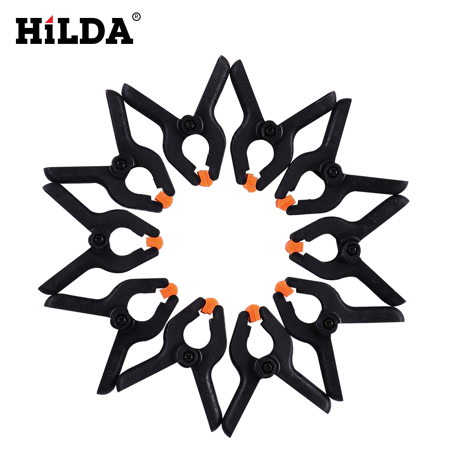 HILDA DIY Tools Plastic Nylon Toggle Clamps For Woodworking Spring Clip Photo Studio Clamps 10PC 2inch