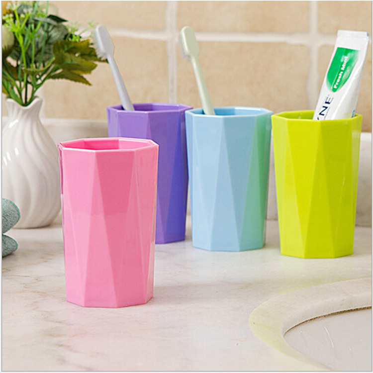 ANGRLY Fashion Multi Purpose Colorful Candy Colored Diamond Couple Thickened Gargle Toothbrush Drink Water Bottle Water bottle image