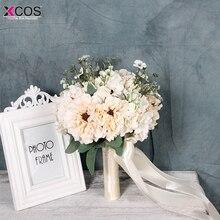 New 2018 ramo de novia Bridal Bouquet High Quality bruidsboeket Ivory Wedding Flowers Bridal Bouquets