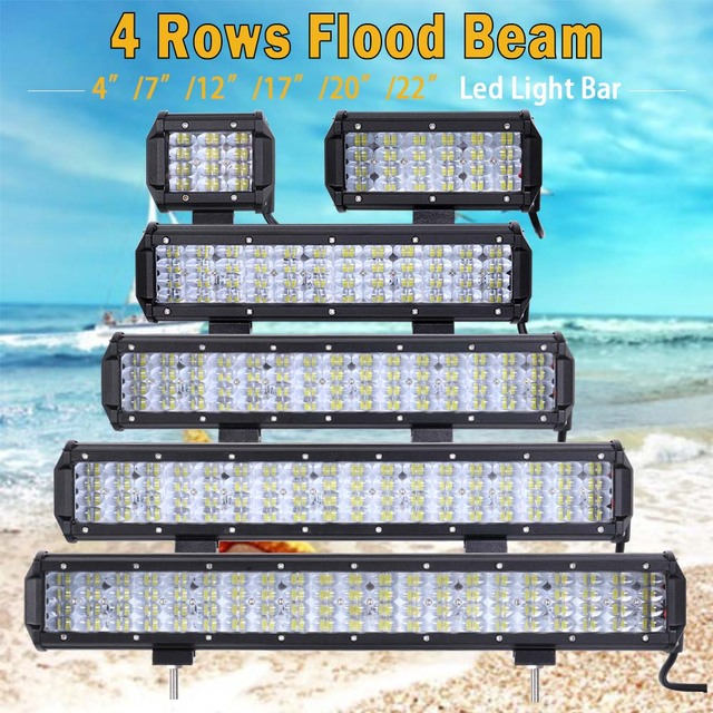 Led Light Bar Led Work light 4 22 inch for Off Road 4x4 4WD ATV UTV ...