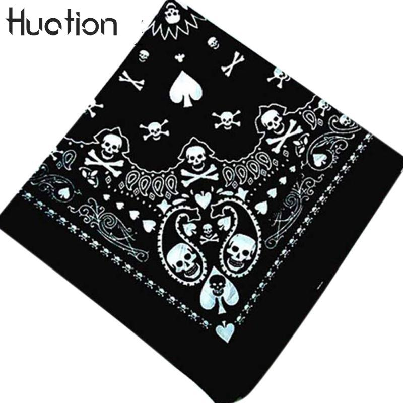 Humor Cotton Black Bottom Colored Paisley Punk Hip-hop Headwear Hair Neck Wrist Wrap Band Neckerchief Square Headtie Kerchief For Men Apparel Accessories
