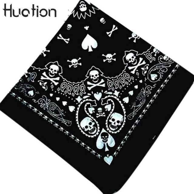 Huation Skull Bandana Gothic Headwear Hair Band Scarf Neck Wrist Headtie  Clothing Accessories Dropshipping Men Bandana 815be374348d
