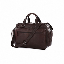 Guaranteed 100% Genuine leather Vintage Real cowhide Leather Men Briefcase Messenger Bags Travel Bags 15 inch Laptop Bag LI-663