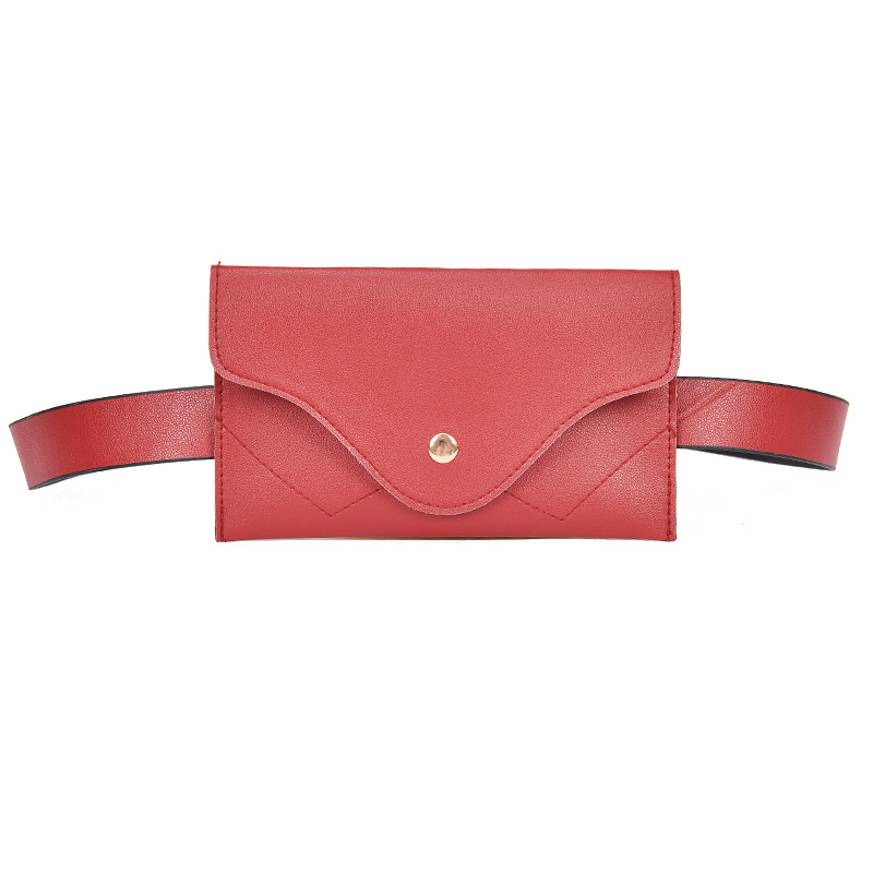 For Women Waist Fanny Pack PU Leather Woman Girl Waist Bags Adjustable Belt Bags For Ladies