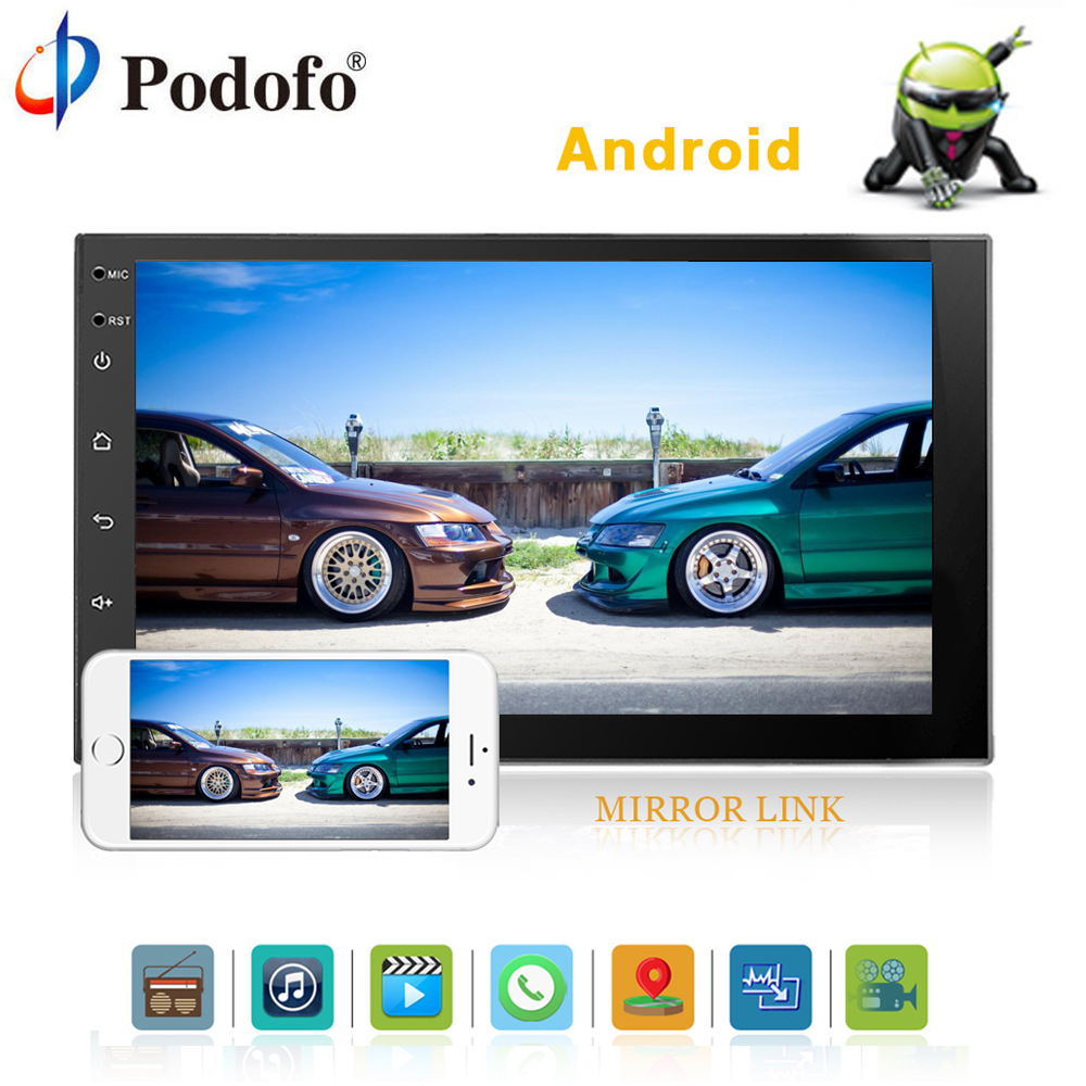Podofo 2 Din 7 Android Universal font b Car b font font b Radio b font