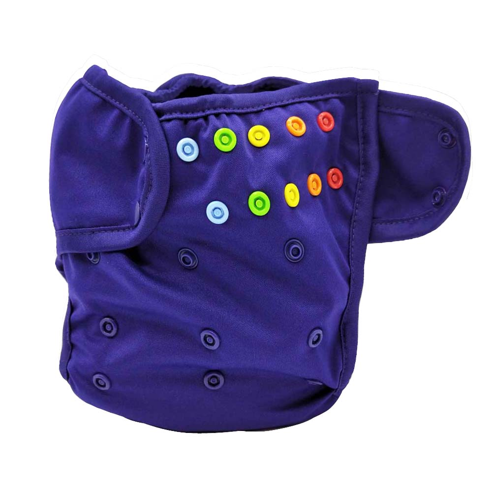one size fits all waterproof PUL washable most popular rainbow snap cloth diaper cover w ...