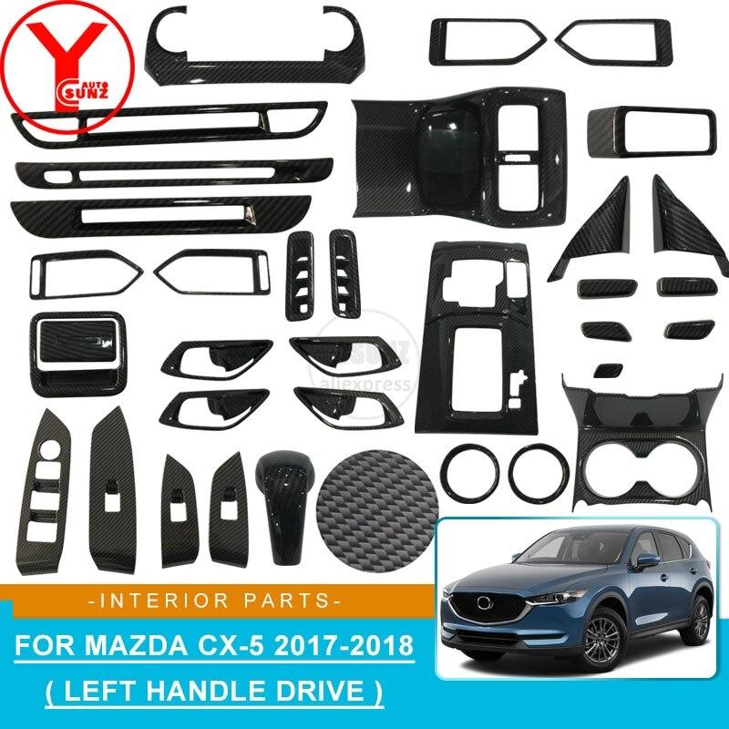 Car Interior Parts >> Us 16 88 30 Off Abs Carbon Fiber Interior Door Handle Panels Interior Parts Car Styling Car Interior Accessories For Mazda Cx5 Cx 5 2017 2018 In
