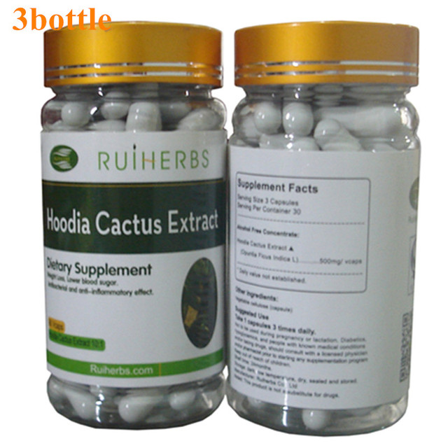 3Bottle HOODIA GORDONII EXTRACT Capsule 500mg x 270pcs - Natural Fat Burners For Weight Loss