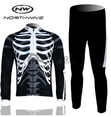 3D Silicone! North northwave 2012 team long sleeve cycling jersey pants bicycle bike riding cycling autumn wear clothes set