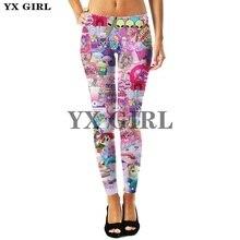 YX Girl Long Pants Plus Size Female Sex Leggings for Women Lisa Frank Cartoon Animal 3d Print Fashion Trousers