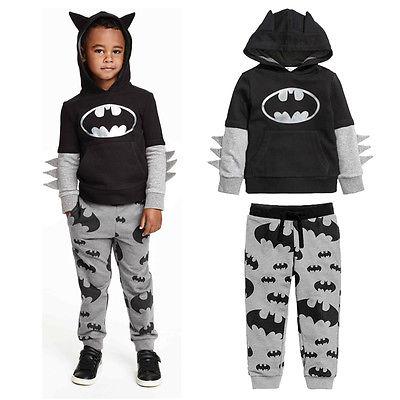 Buy 2pcs Baby Boy Cartoon Batman Tops T shirt Hoo s