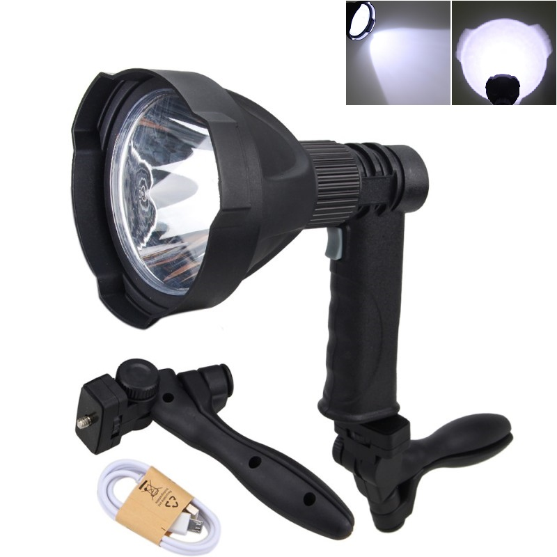 Led Portable Spotlight Work Light Multifunctional 20W 1000 lumens Portable light Rechargeable Flashlight For Hunting Camping