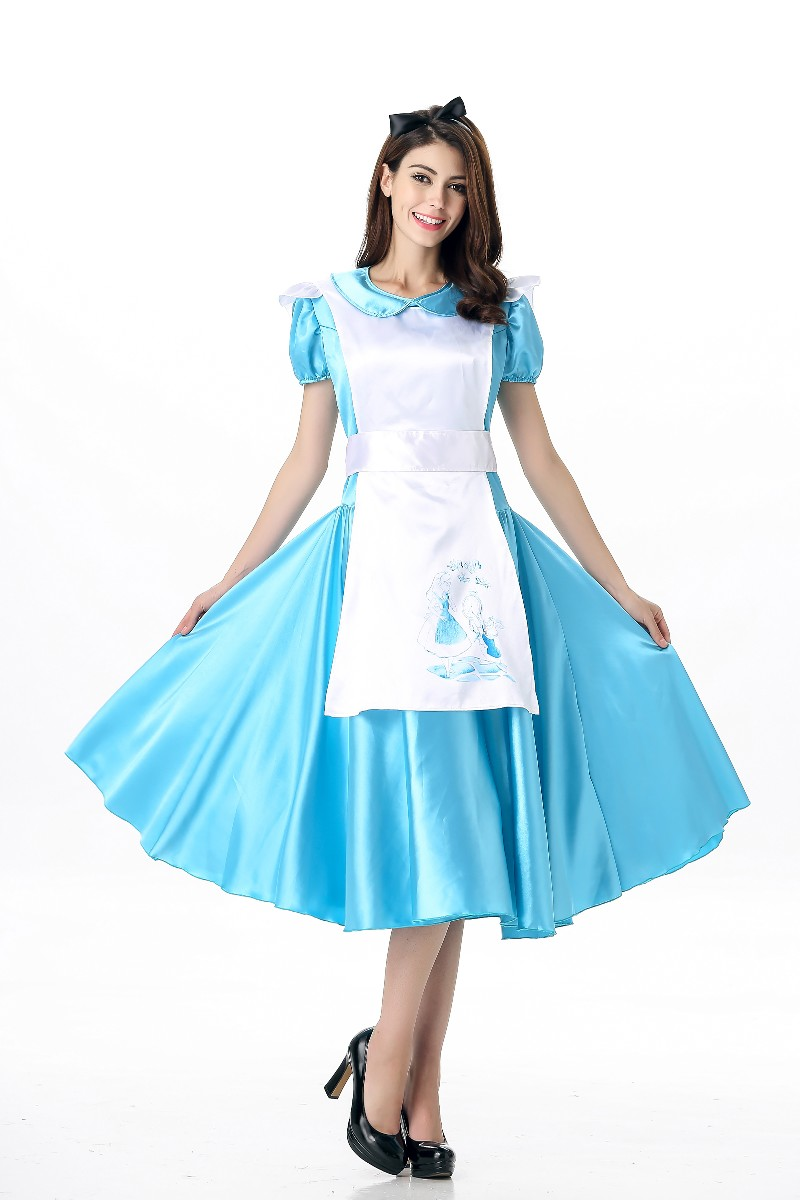 5bc6b0435a5 Free Shipping Cinderella Adult Cosplay Costume Party Women Fancy ...