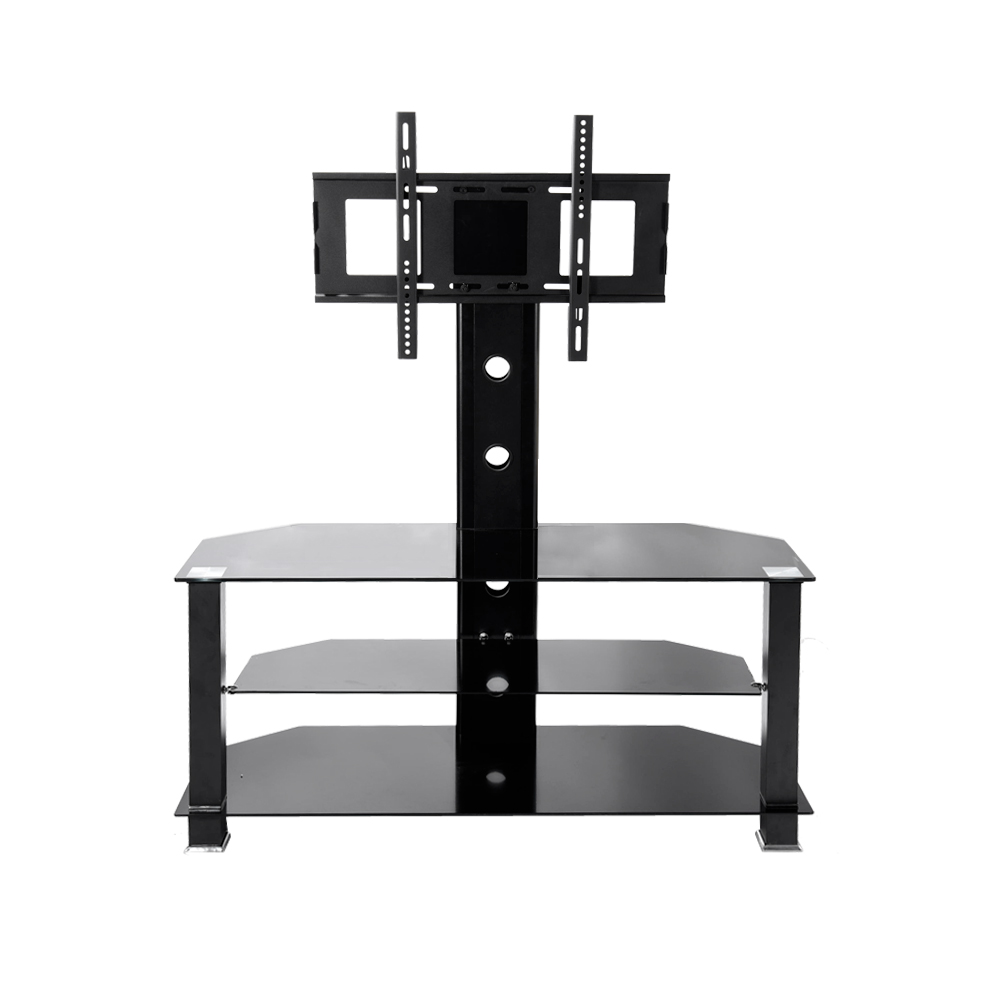 Cantilever Glass TV Stand with Bracket for Plasma <font><b>LCD</b></font> TV Living Room Furniture HOT SALE