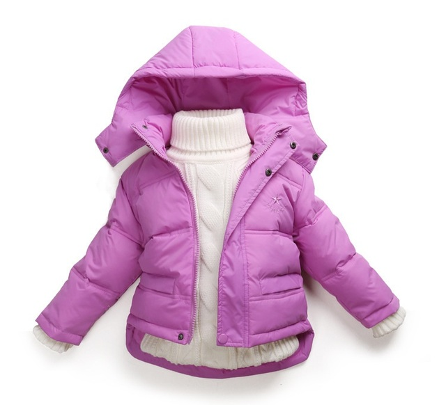 Winter Children Girls Jackets Brand Hooded Kids Baby Girls Clothing Outerwear For 1-7 Years Boys Down Coat Casacos De Inverno