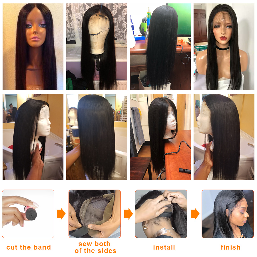 Humorous Sapphire Malaysian Ocean Wave Human Hair Wigs With Adjustable Bangs 14inch Short Wigs Machine Natural Color Non Remy Wigs Neither Too Hard Nor Too Soft Lace Wigs