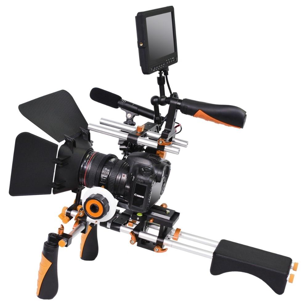 2015 Dual Control Lever Ligero Versión Universal DSLR Camera Support - Cámara y foto