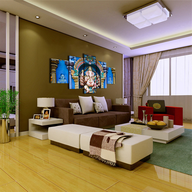 abstrakte kunst auf leinwand poster stil wand bilder meenakshi amman tempel fur wohnzimmer shiva elefanten modernes dekor gemalde in abstrakte kunst auf