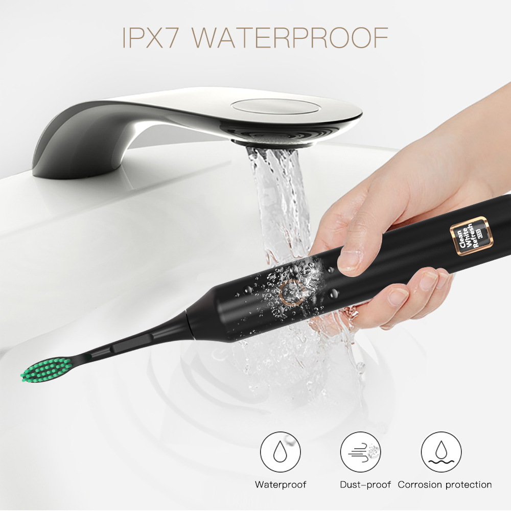 Image 4 - Электрическая зубная щетка с 3 режимами, перезаряжаемая с USB, умная ультразвуковая зубная щетка с умным таймером, отбеливание зубов, НовинкаЭлектрические зубные щетки    АлиЭкспресс