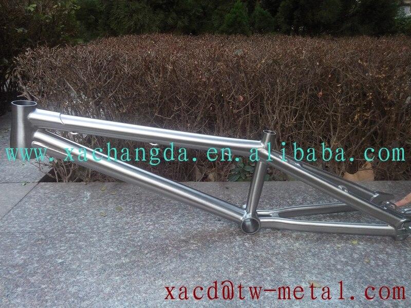 Marco de la bici de bmx bicicleta ti titanium marco personalizado 16 ...