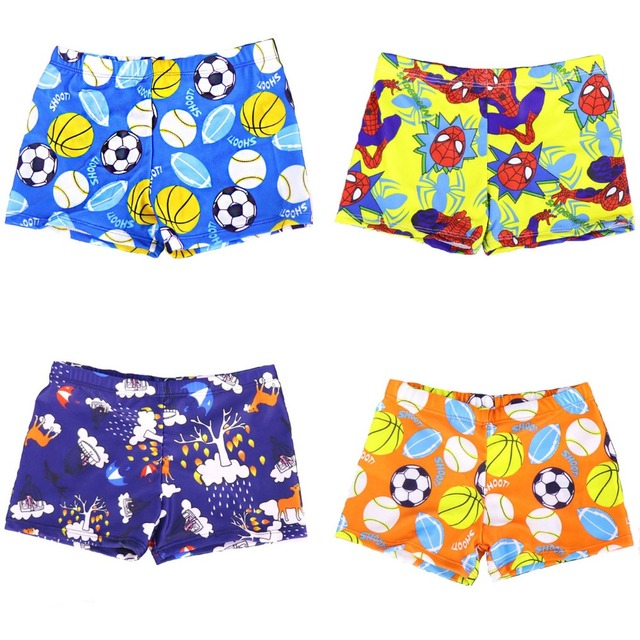 Hight Quality Children Swimming Trunks , High Elastic Boy Football Cartoon Swim Trunks, Girl Bathing Underpants beachwear shorts