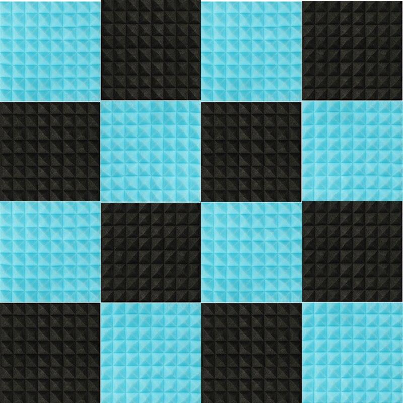 16 pcs 50x50x5 cm Épaisseur Mousse Acoustique Traitement Insonorisation Coton absorbant le Bruit éponge excellente isolation Phonique