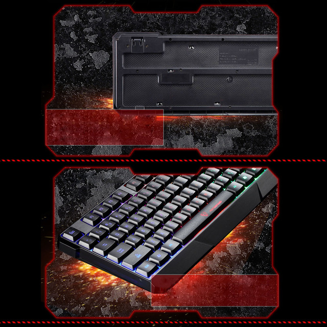 MOTOSPEED 104 USB Wired Pro Gaming Keyboard with 7 Colors LED Backlit Gaming Esport Keyboard for PC Notebook Computer Keyboard