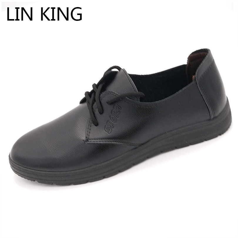LIN KING Fashion Pu Leather Men Casual Shoes Solid Lace Up low Top Shoes Spring Autumn Male Breathable Ankle Office Work Shoes chilenxas new fashion spring autumn leather men casual shoes breathable lightweight comfortable lace up solid waterproof 2017